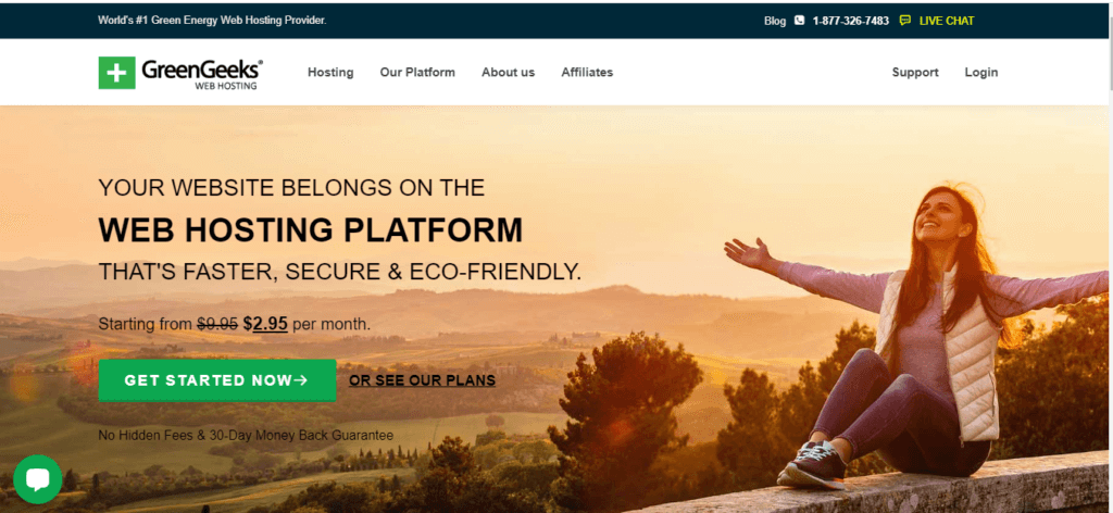 GreenGeeks Eco-friendly Hosting Provider