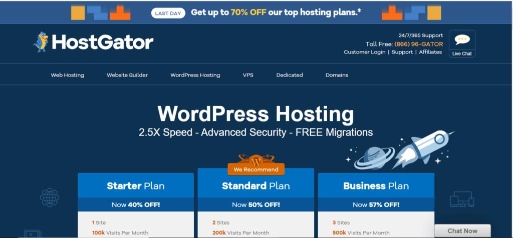 HostGator WordPress Hosting Provider
