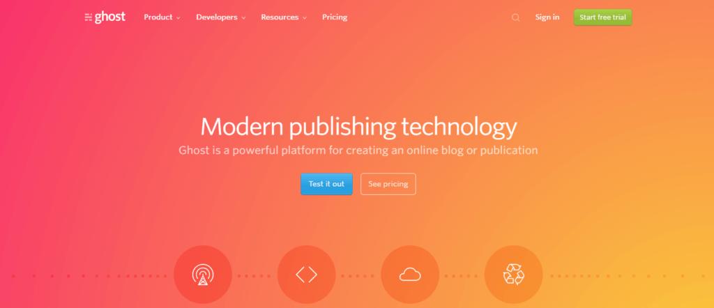 Ghost Blogging Platform
