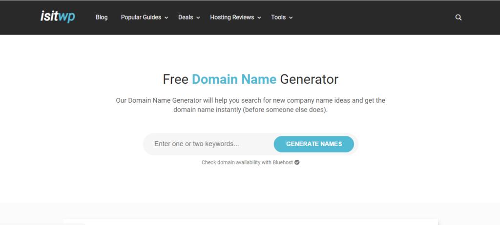 IsitWP Best Free Blog Name Generator
