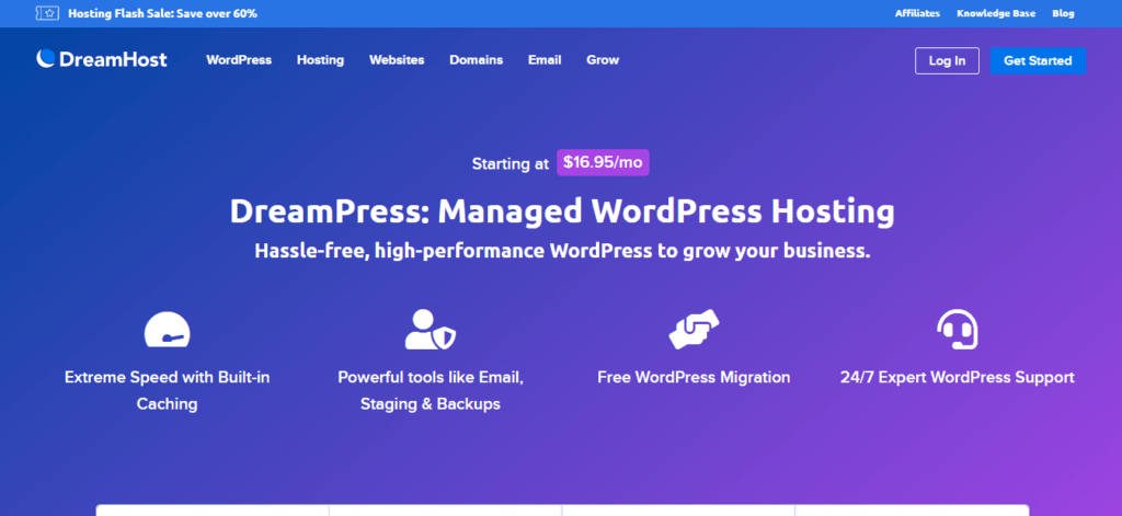 DreamPress Managed WordPress Hosting