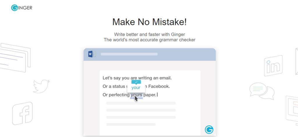 Ginger Grammar Checker Tool