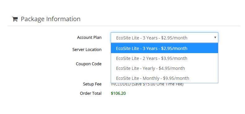 Greengeeks pricing options