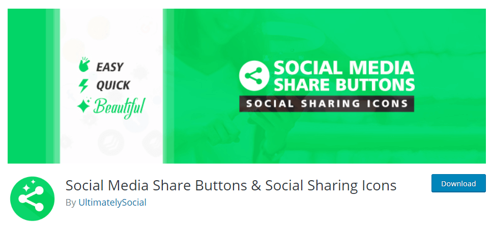 Social Media Share Buttons and Icons plugin