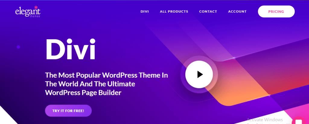 Divi- Web Builder and Designer Software