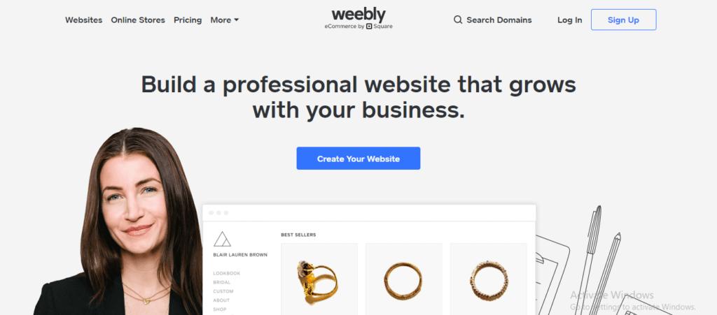 Weebly - Innovative web design software