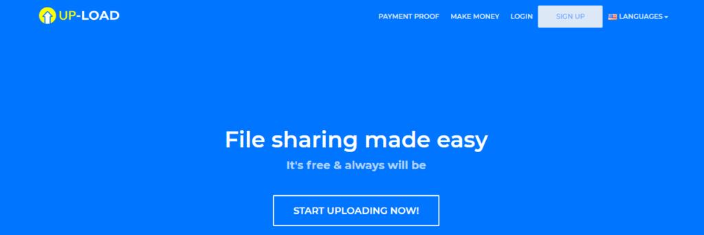 Up-load Website Homepage
