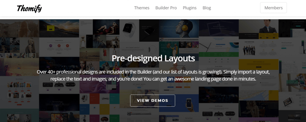 Themify Landing Page Builder