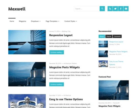 Maxwell - Free WordPress Theme