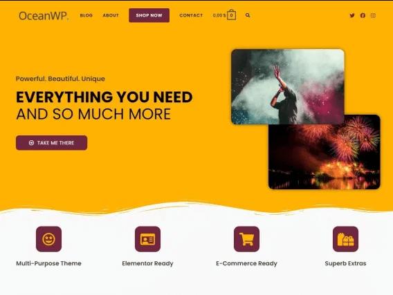 OceanWP - Popular WordPress Theme