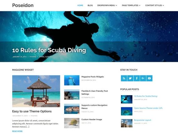 Pseidon WordPress Theme