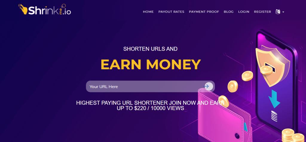 Shrinkme URL Shortner