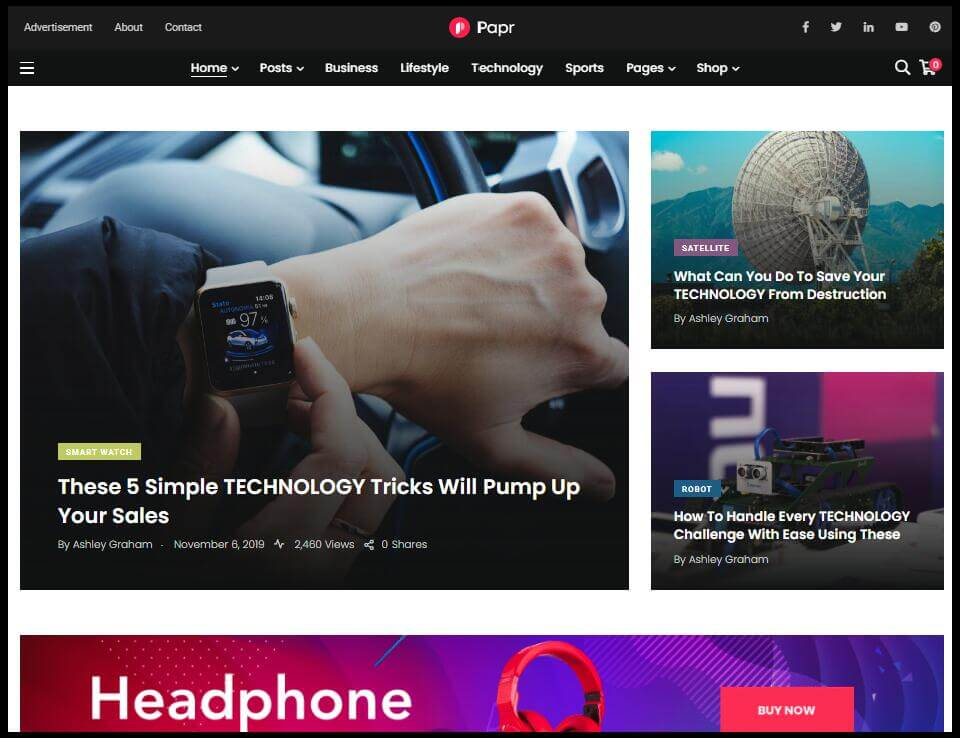 Papr Tech News & Magazine Theme