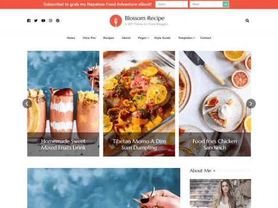 Blossom Recipe - Free WordPress Theme