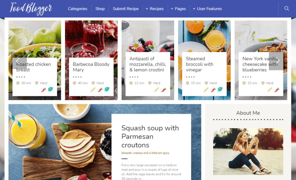 Boiler - Personal Food Blog Theme for WordPress