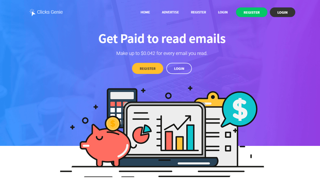 Clicks Genie - Get Paid to Read Emails