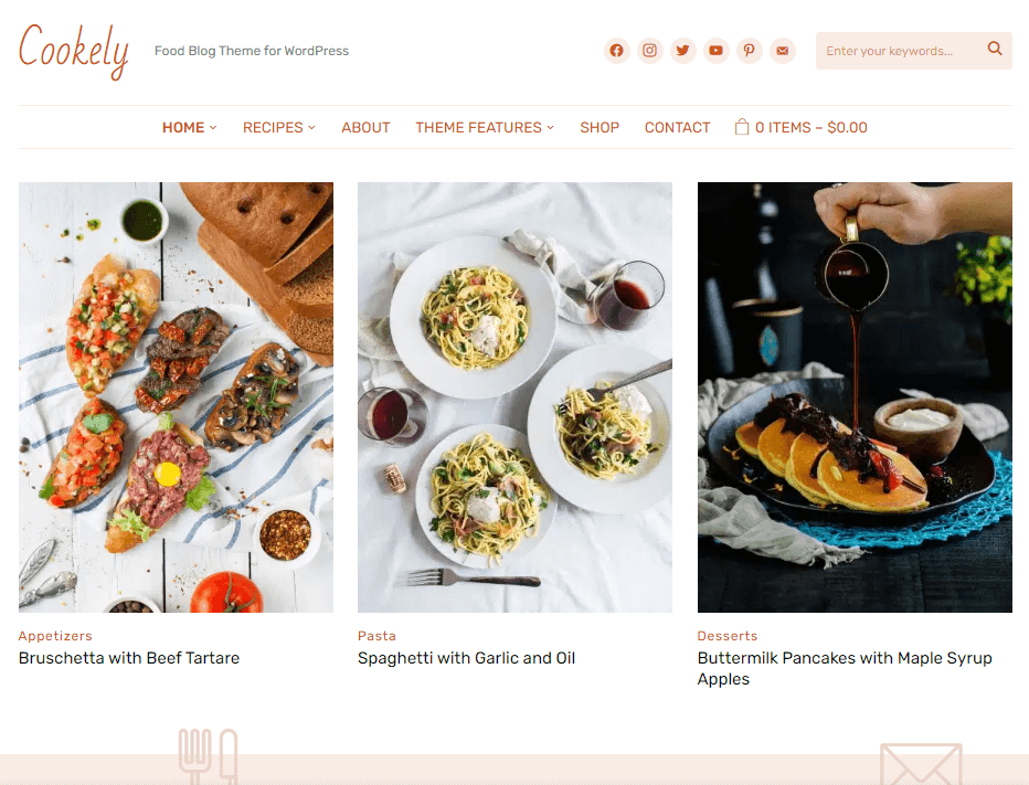 Cookely Food Theme