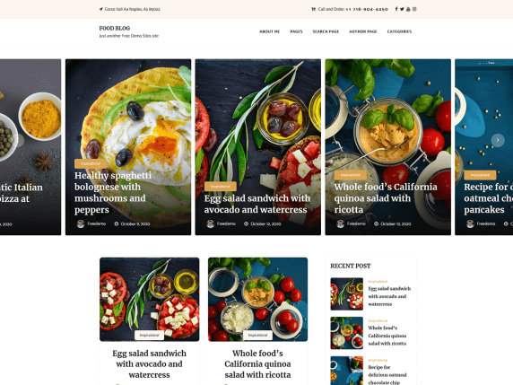 Food Blogger - Free WordPress Food Theme