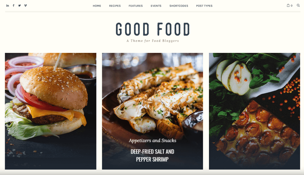 Good Food - Recipe Magazine & Cooking Blog Theme