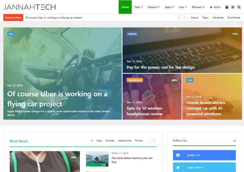 Jannah - News Blog Theme