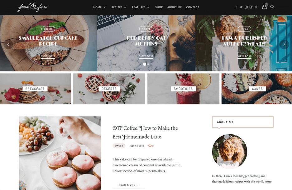 Lahanna - Food Blog WordPress Theme
