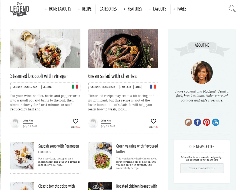 Neptune - Theme for Food Bloggers