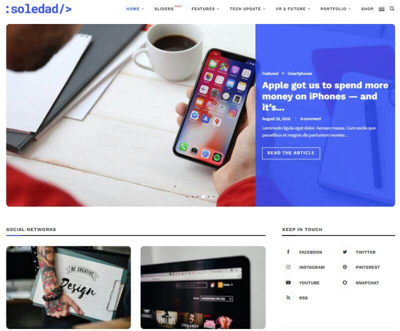 Soledad Tech Blog Template