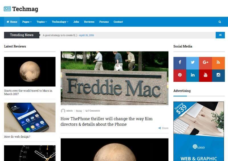 Techmag - WordPress Tech Theme