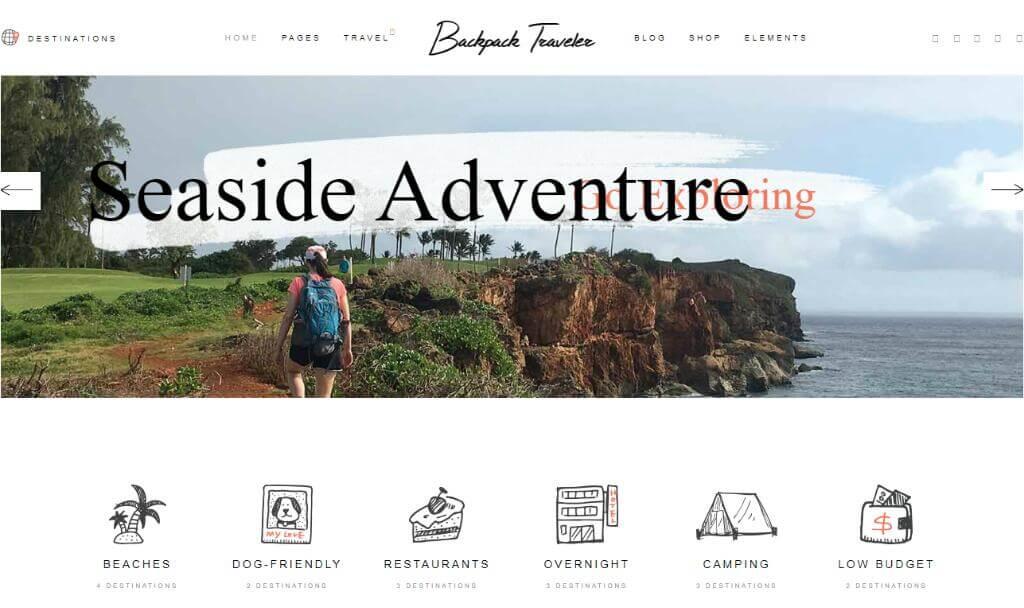 BackPack Traveler Theme