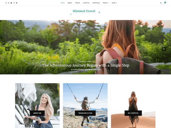 Minimal Travel WordPress Theme