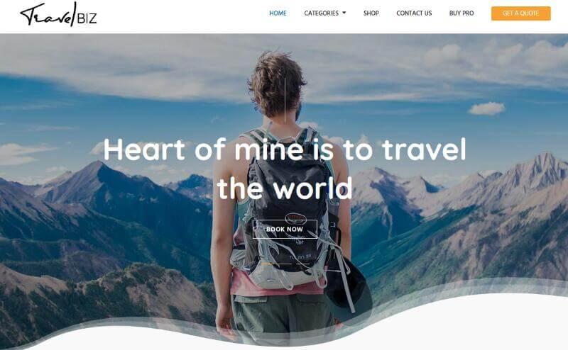 Travel Biz - Free WordPress Travel Theme