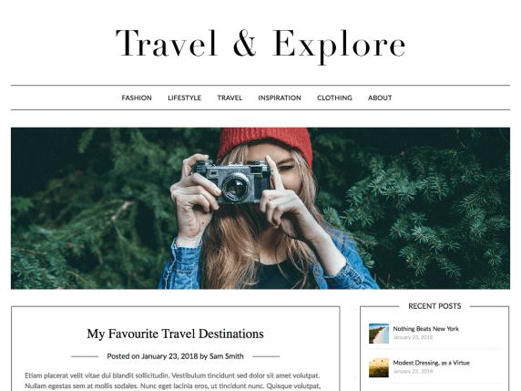 Free Travel Blog WordPress Theme