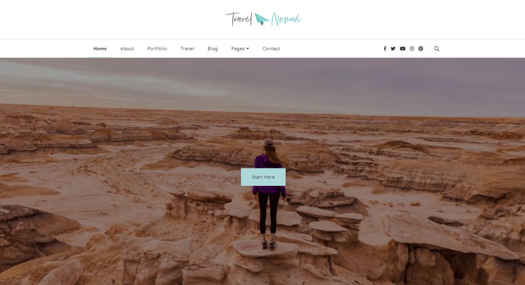 Travel Nomad Free Theme