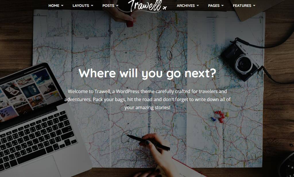 Trawell - Travel WordPress Theme