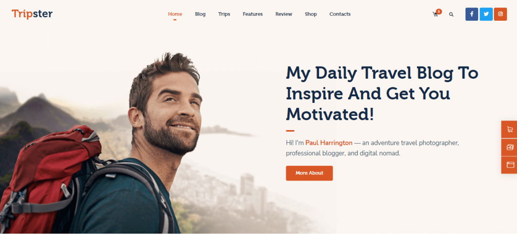 Tripster Personal Travel Theme